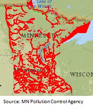 MN impaired lakes map -- 9-28-12